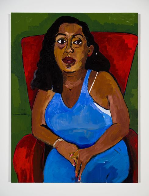 Henry Taylor, 'Portrait of my cousin GF: Dana Gallegos', 2020, Painting, Acrylic on canvas, Hauser & Wirth