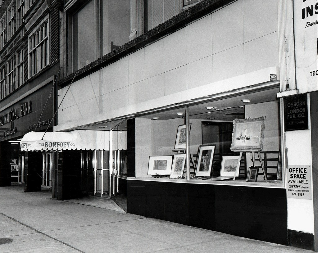 When we just had the awning with no signage up yet. circa 1964