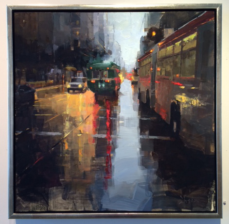 , 'Market Street Traffic,' 2016, Abend Gallery