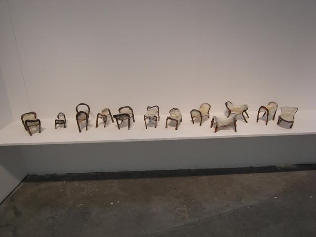 Liang Shaoji, 'Natural Series No. 10/Bed', 1993, Installation, Charred Copper, Silk, ShanghART