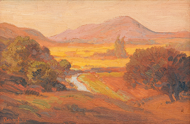 Jacob Hendrik Pierneef, 'Meintjieskop, Pretoria, Aand', Strauss & Co
