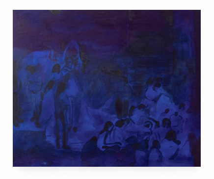, 'blue gathering,' 2017, The Java Project