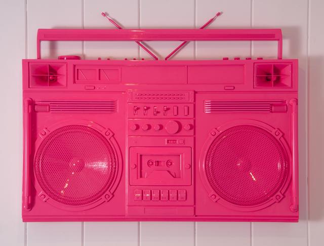 Lyle Owerko, 'Bubblegum Pink Boombox Sculpture / version 2.0', 2019, Samuel Owen Gallery