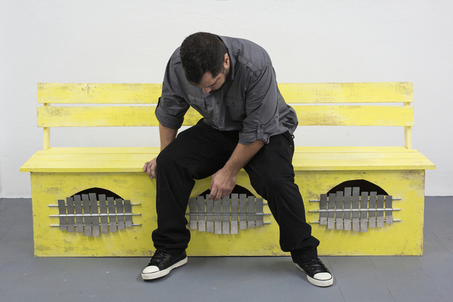 , 'Banco marímbula (amarilla),' 2014, ROBERTO PARADISE