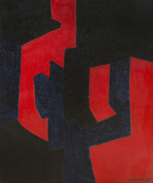 , 'Composition noire, bleue et rouge,' 1966, HELENE BAILLY GALLERY
