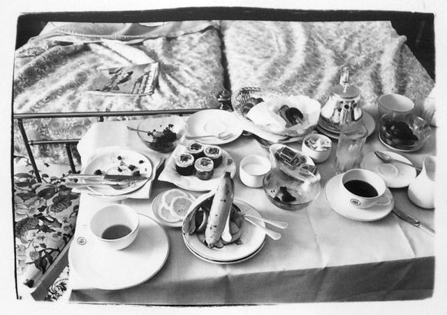 Andy Warhol, 'Andy Warhol, Photograph of a Room Service Tray in Paris, 1980', 1980, Photography, Silver Gelatin Print, Hedges Projects