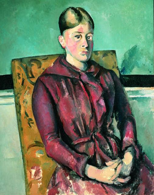 Paul cézanne madame cézanne au fauteuil jaune madame cézanne in a yellow armchair 1888 1890 artsy