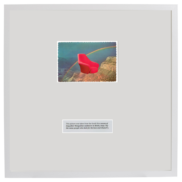 , 'We've been around for over two decades (Red chair and the Grand Canyon),' 1960-2015, Klowden Mann