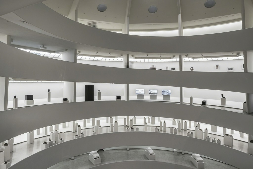 Installation view: Peter Fischli David Weiss: How to Work Better, February 5–April 27, 2016, Solomon R. Guggenheim Museum 