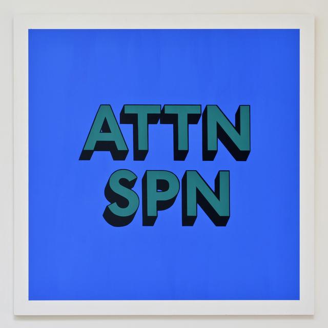 , 'ATTN SPN,' 2017, Hang-Up Gallery