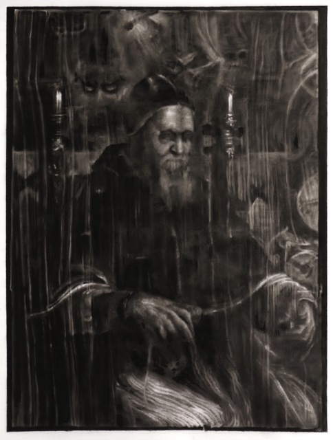 , 'Study of X-Ray of Portrait of Pope Julius II, 1511 (After Raphael),' 2016, Galerie Thaddaeus Ropac