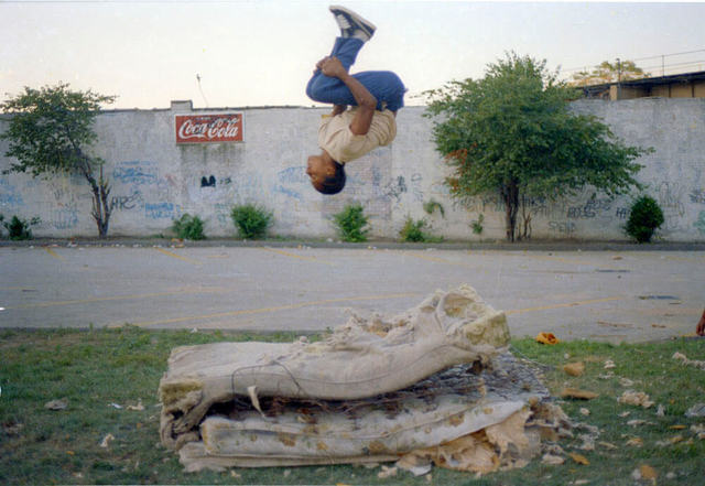 Jamel Shabazz, 'Flying High, Determination, Brooklyn, NYC', 1982, Photography, Chromogenic print, Galerie Bene Taschen