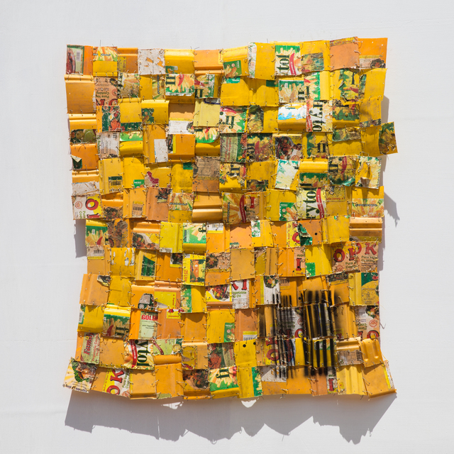 Serge Attukwei Clottey, 'Daily dispatched 6', 2017, Jane Lombard Gallery