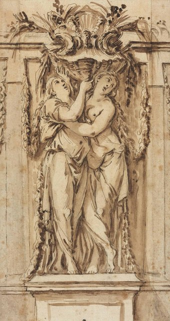 , 'Design for a fountain with two caryatids holding a basin,' , Christie's Old Masters
