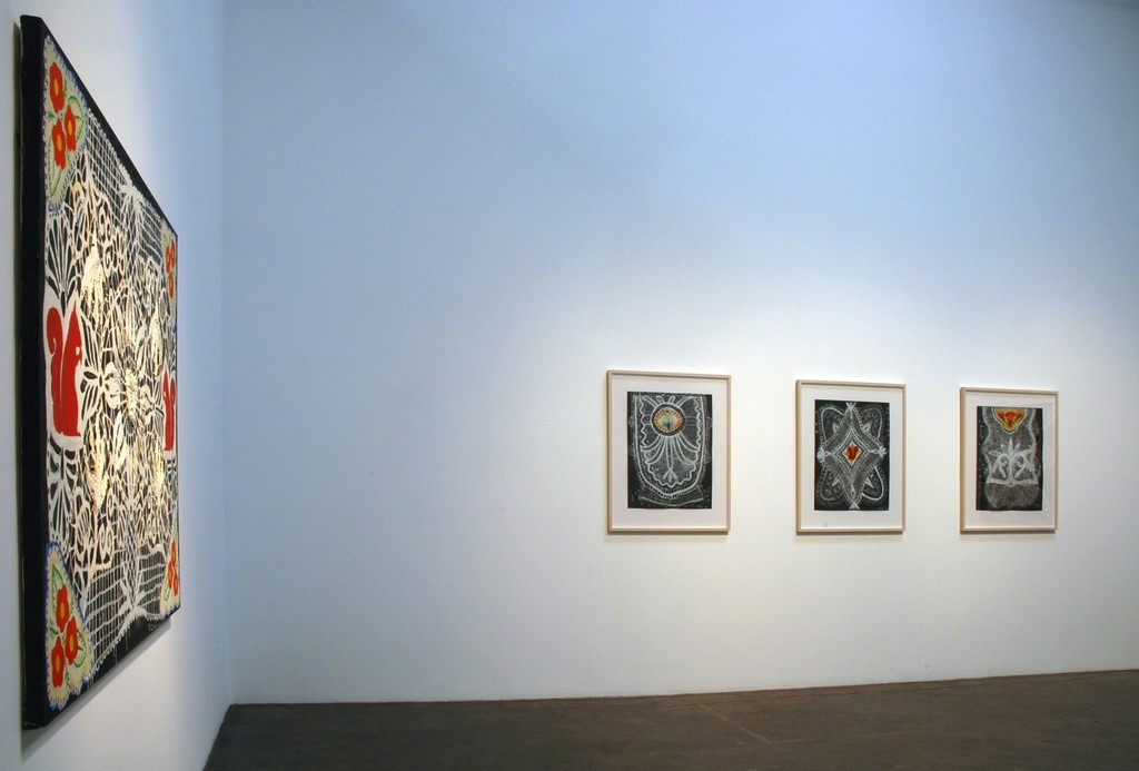 "Installation view of Robert Rahway Zakanitch ""From Ordinary Miracles"" at Samuel Freeman, May 2010."