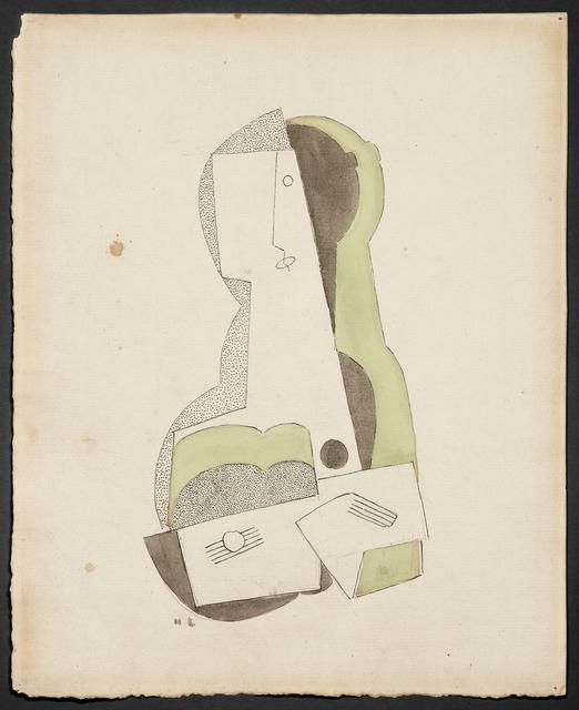 , 'Femme à la guitare,' 1918, DICKINSON