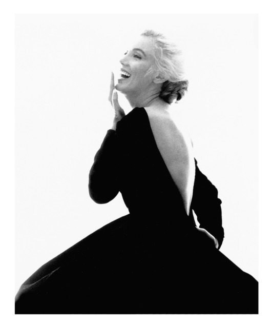 ", 'Marilyn Monroe: From ""The Last Sitting"" (Black Dress, Laughing),' 1962, Staley-Wise Gallery"