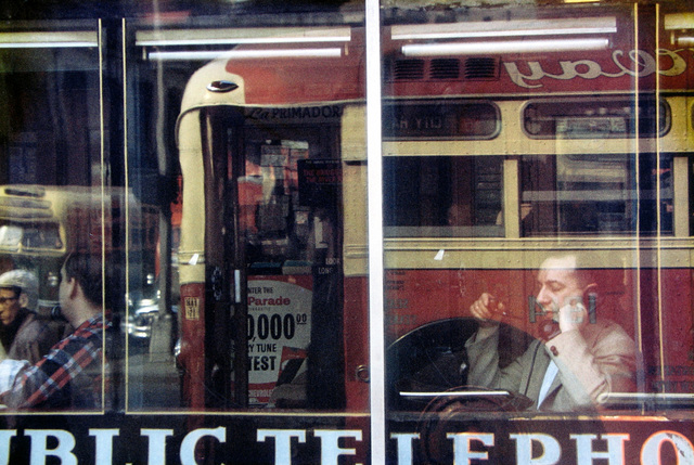 Saul Leiter, 'Phone call', 1957, Photography, Chromogenic print, printed later, GALLERY FIFTY ONE