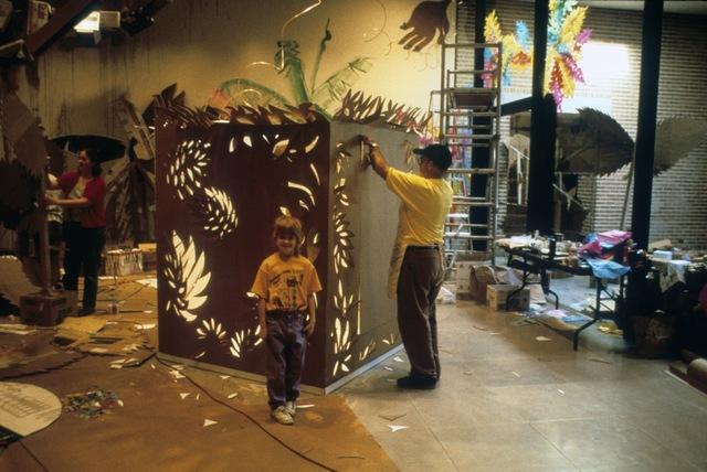 , 'Provi's Garden (a cardboard fantasy),' 1998, Rice University Art Gallery