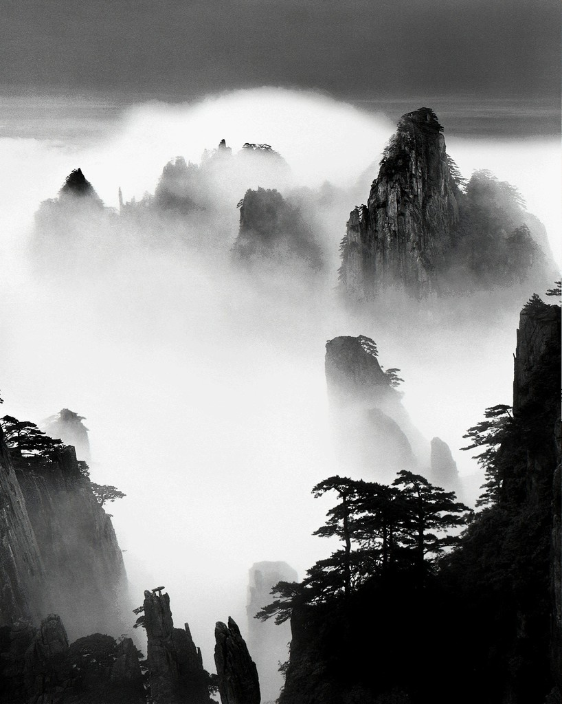 Wang Wusheng, Huangshan A124: Disciples of Buddha and Fairy Maiden Peak, 2004