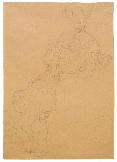 Gustav Klimt, 'Study for Portrait of Fritza Riedler', 1904-1905, W&K - Wienerroither & Kohlbacher