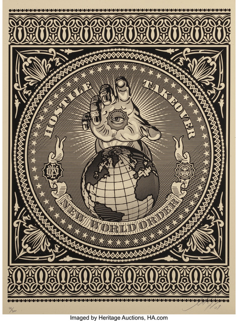 Shepard Fairey (OBEY), 'Hostile Takeover (Black)', 2007, Heritage Auctions