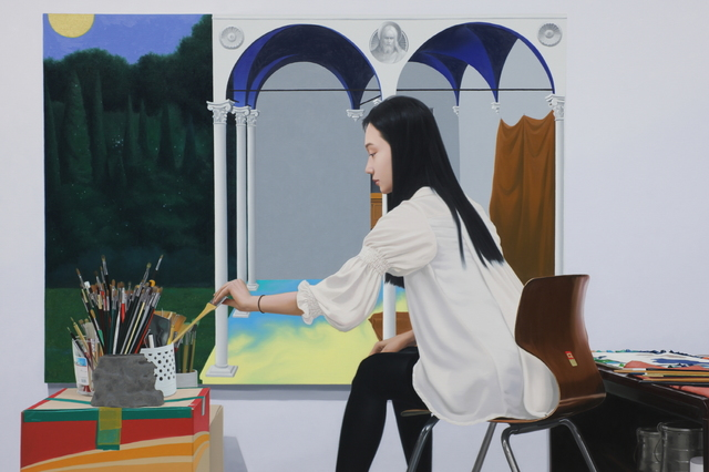 , 'Painting a White Painting,' 2012, Gallery LVS