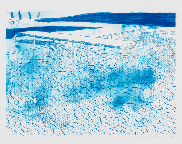 , 'Lithograph of Water Made of Lines,' 1978, Susan Sheehan Gallery