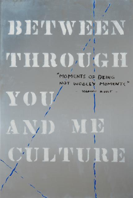 Edwin Schlossberg, 'Between Through', 2014, Painting, Acrylic on polished aluminum 36 x 24 inches, Ronald Feldman Gallery