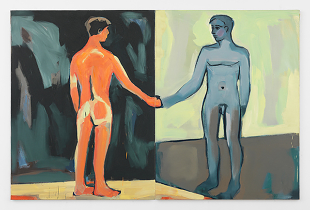 Luis Frangella, 'Man at the Mirror', 1986, Hal Bromm