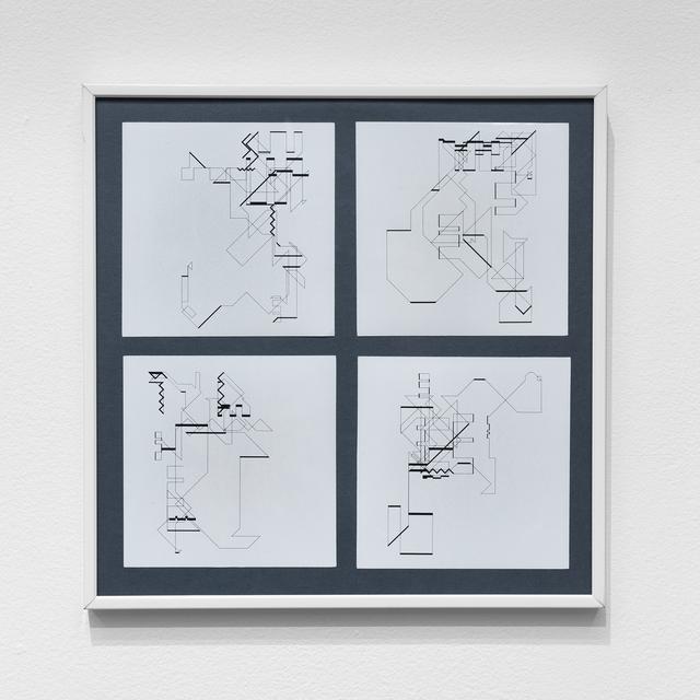 , 'P-018-mf_11, 14, 20, 21,' 1969, bitforms gallery