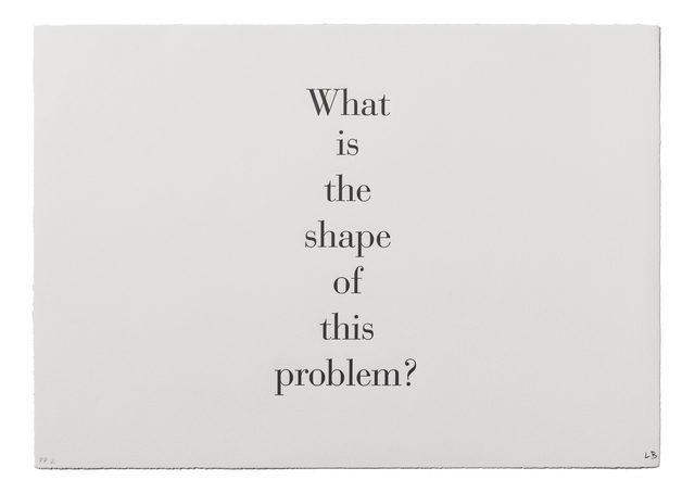 ", '""What is the Shape of this Problem"",' 1999, Burning in Water"