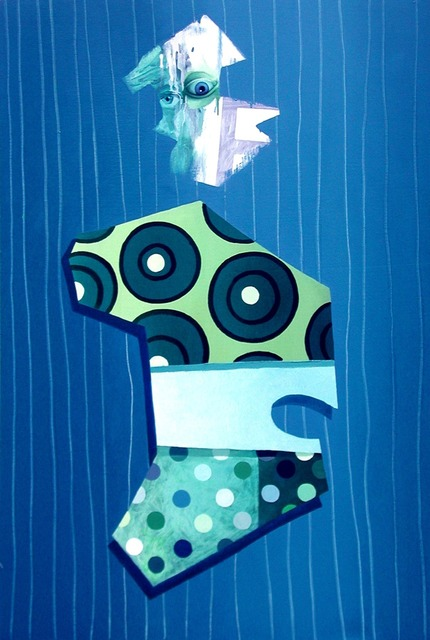 , 'Figure With Green and Blue Drips,' 1998-2000, envoy enterprises
