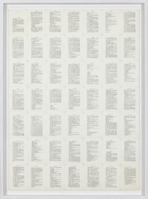 , 'Trascrizioni, Thinking III,' 1974, Galerija Gregor Podnar
