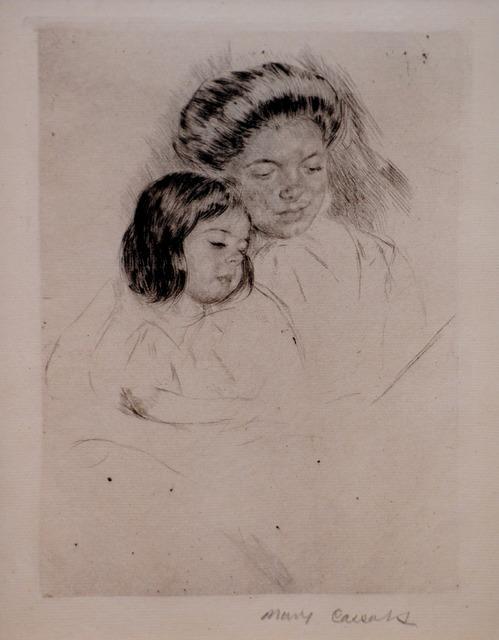 Mary Cassatt, 'The Picture Book', ca. 1901, Print, Drypoint, Contessa Gallery