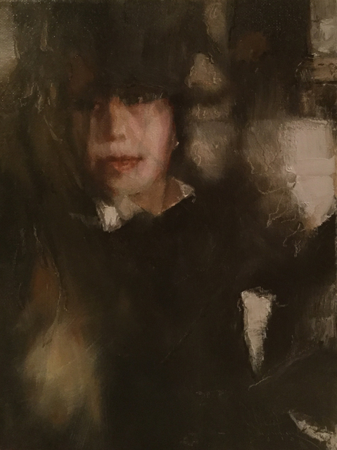 , 'Black Hat and Veiled Face,' 2016, Gallery 1261