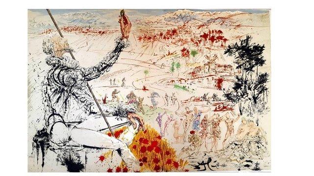 """Salvador Dalí, 'Original Lithograph """"Don Quixote V"""" by Salvador Dali', 1957, Galerie Philia"""
