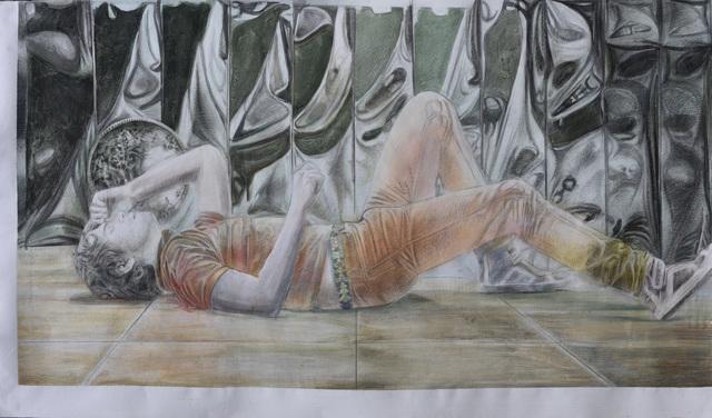 , 'Fb œil version orange,' 2019, Odile Ouizeman