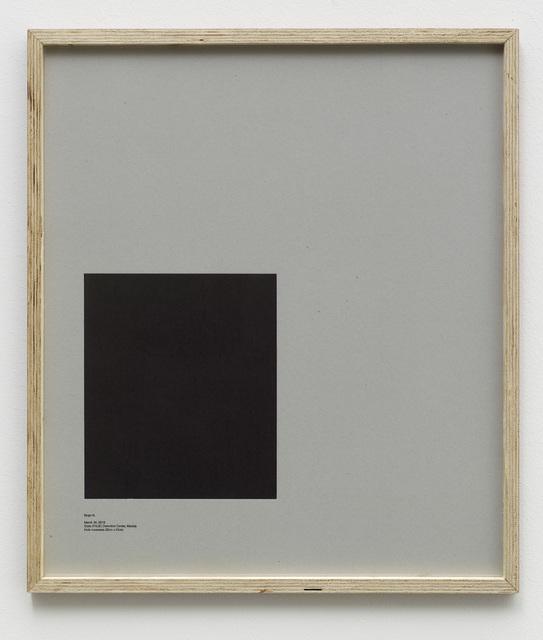 , 'Loop Holes (Hugo N., March 30. 2013, State (PGJE) Detention Centre, Mexico, hole measures 25 x 29 cm),' 2014, Galleri Nicolai Wallner