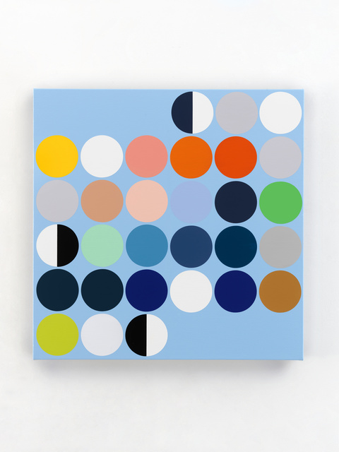 """Sarah Morris, '""""April 2020""""', 2020, Painting, Household gloss paint on canvas, White Cube"""
