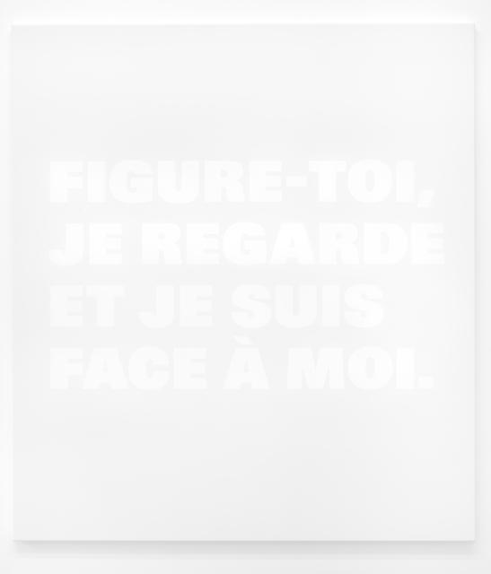 , 'FIGURE-TOI;/JE REGARDE/ET JE SUIS/FACE À MOI., N.T.105a(2),' 2002, Galerie Nordenhake
