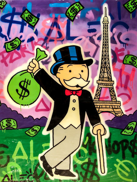 , 'Monopoly Holding $ Bag Eiffel Tower,' 2017, Eden Fine Art