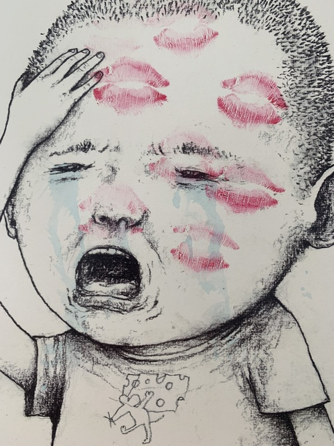 """dran, 'DRAN """"KISS ME"""" CRYING BOY, HAND-FINISHED, NUMBERED & SIGNED BY ARTIST', 2018, Arts Limited"""