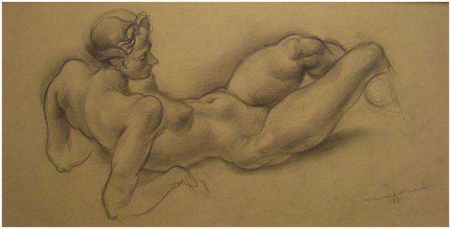 , 'Female nude,' 1932, Artur Ramon Art
