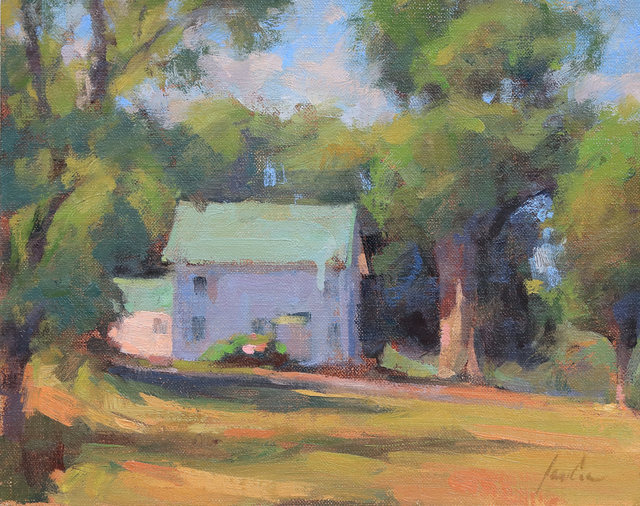 James Coe, 'House with the Green Roof', 2019, Painting, Oil, The Galleries at Salmagundi