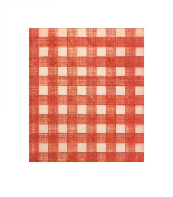, 'Warm Red Gingham,' 2015, Tandem Press