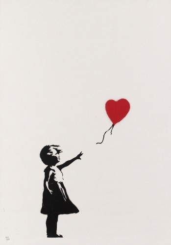 Banksy, 'Girl with Balloon Unsigned', 2004, Lionel Gallery