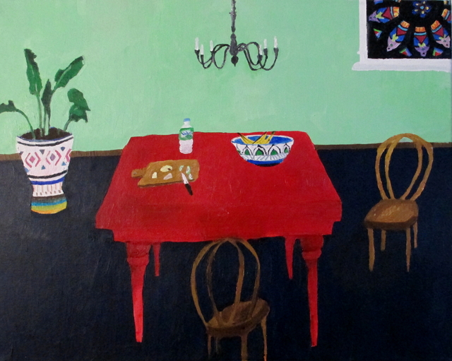 Polly Shindler, 'Apples and Cheese', 2017, Painting, Acrylic on canvas, Caitlin Berry Fine Art