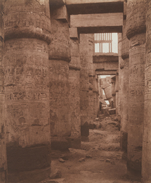 Karnak (Thèbes), Palais - Salle Hypostyle - Vue Transversale Prise du Point K