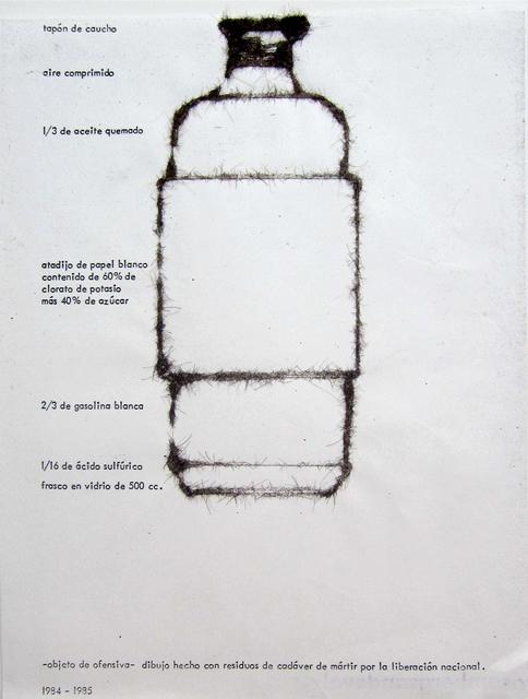 , 'Objeto de ofensiva (Molotov),' 1984, Casas Riegner
